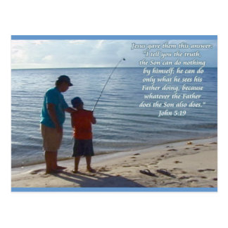 Father, Son and God Postcard