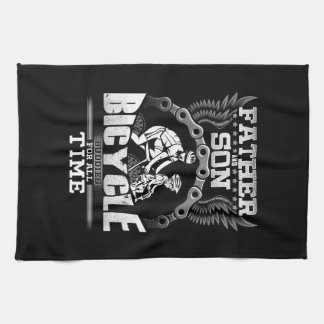 Father Son Bicycle Kitchen Towel