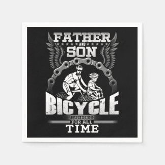 Father Son Bicycle Napkin