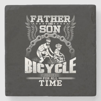 Father Son Bicycle Stone Coaster