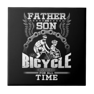 Father Son Bicycle Tile