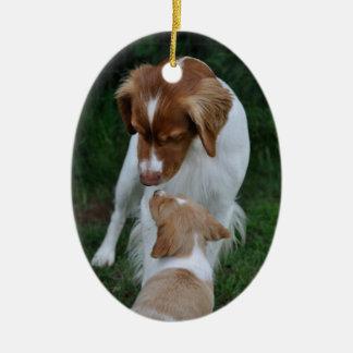 Father & Son Brittany ornament