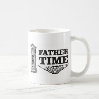 father time clock coffee mug