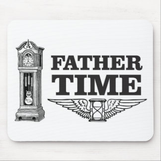 father time clock mouse pad