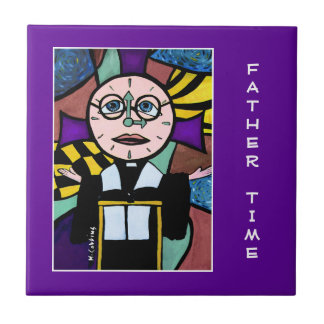 Father Time - Purple  - Time Pieces Tile