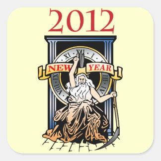 Father Time Square Sticker