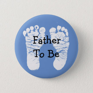 Father to be Blue Baby Shower Button