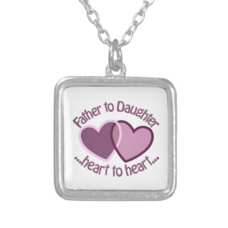 Father To Daughter Silver Plated Necklace