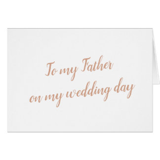 Father Wedding Card
