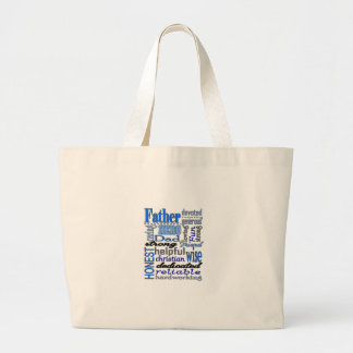 Father Words Day Dad Daddy Papa Pawpaw Tote Bags