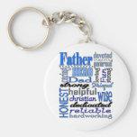 Father Words Day Dad Daddy Papa Pawpaw Basic Round Button Keychain