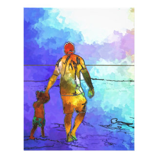 Fatherhood By The Ocean Customized Letterhead