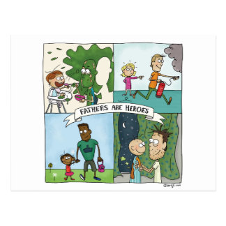 Fathers Are Heroes Postcard