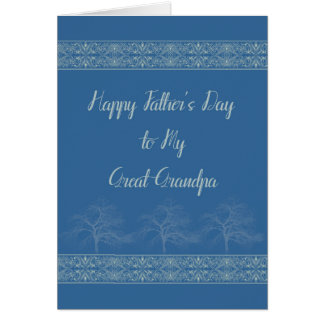 Father's Card for My Great Grandpa in Blue