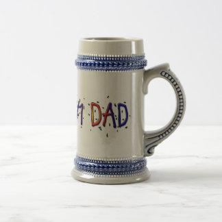 Father's Day #1 Dad Stein 18 Oz Beer Stein