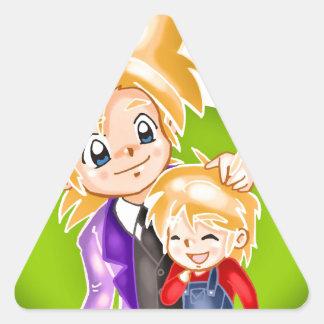 Father's Day 2 Triangle Sticker