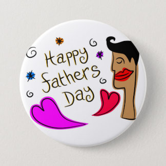 fathers day 3 inch round button