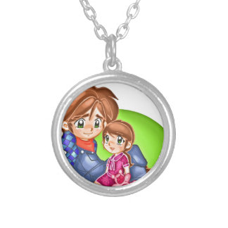 Father's Day 3 Silver Plated Necklace
