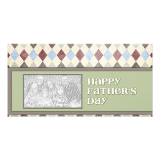 Fathers Day ADD YOUR PHOTO Argyle Photo Cards