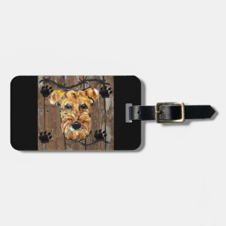 FATHERS DAY AIREDALE LUGGAGE TAG