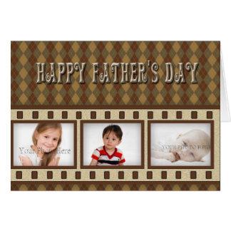 Father's Day Argyle Photo Card