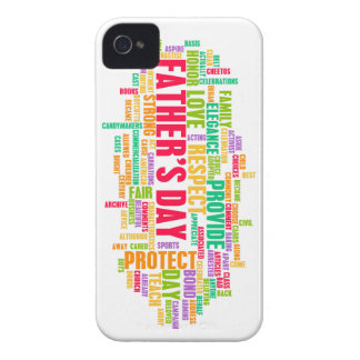Father's Day As a Special Day with Words iPhone 4 Cover