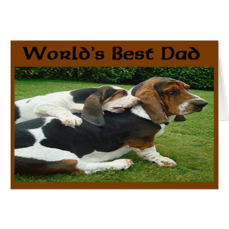 Father's Day Basset Hounds World's Best Dad Card