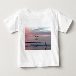Father's Day Beach Heron Baby T-Shirt
