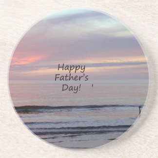 Father's Day Beach Heron Coasters