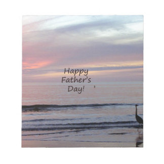 Father's Day Beach Heron Notepad