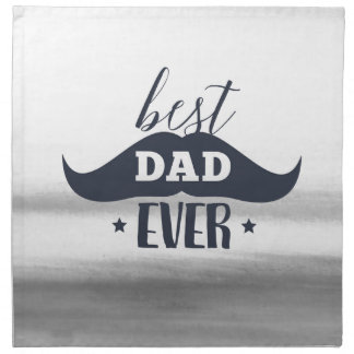 Father's day, Best dad ever, Gift for dad, for him Napkin