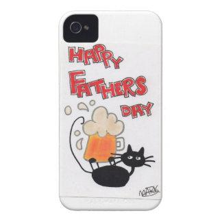 Fathers Day black cat Case-Mate iPhone 4 Case