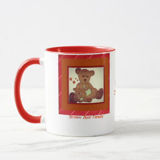 Father's Day Brown Bear Family Best Buddies Mug
