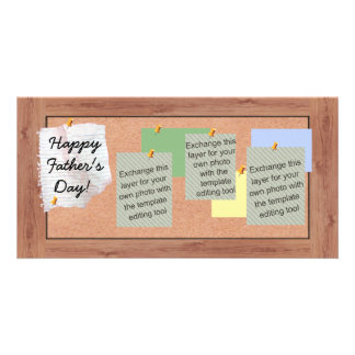 Father's Day Bulletin Board Pictures Customized Photo Card