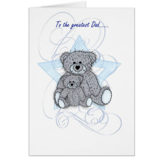 Father's Day Card, Dad, two little teddy bears Card