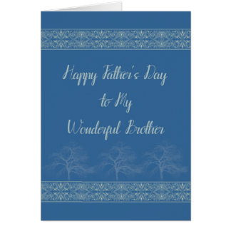 Father's Day Card for Brother in Blue