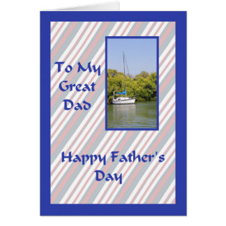 Father's Day Card with a Nautical Theme.