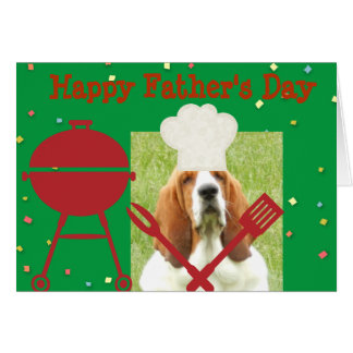 Father's Day Card with Basset Chef