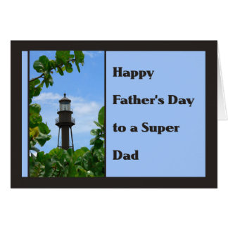 Father's Day Card with Sanibel Lighthouse