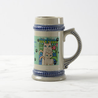 Father's Day Cat Family Collectible Beer Mug
