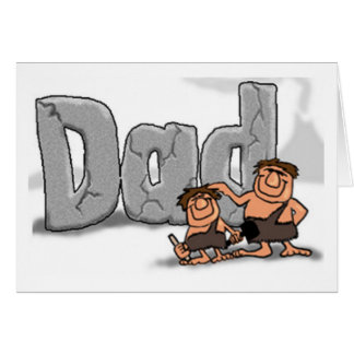 Fathers Day Caveman Dad Greeting Card