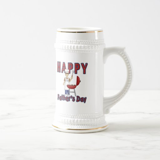 Fathers Day Chef Beer Stein Coffee Mugs