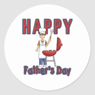 Fathers Day Chef Stickers