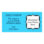 Father's Day COUPON FOR DAD Photo Card