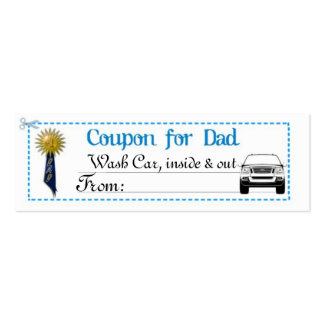 Father's Day Coupon Pack Of Skinny Business Cards