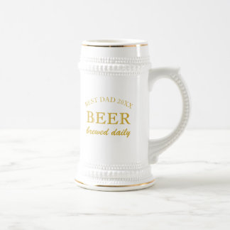 Fathers Day Custom Message Best Dad of the Year Beer Stein