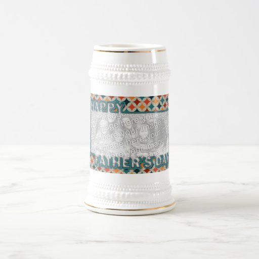 Fathers Day Cut Out ADD YOUR PHOTO Jewel Stars Coffee Mug