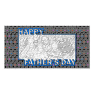 Fathers Day Cut Out ADD YOUR PHOTO Music Photo Greeting Card