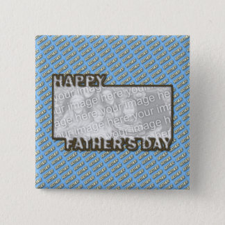 Fathers Day CutOut ADD YOUR PHOTO Polka Dot Father 2 Inch Square Button