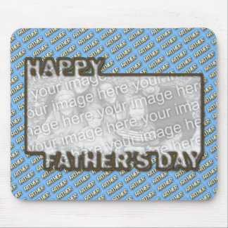 Fathers Day CutOut ADD YOUR PHOTO Polka Dot Father Mouse Pads